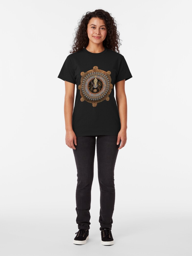 Alternate view of Infernal Steampunk Vintage Clock Face Classic T-Shirt