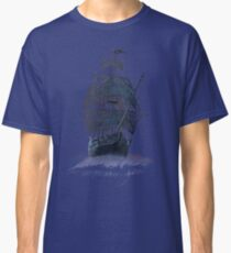 Ghost Pirate Ship at Night Classic T-Shirt