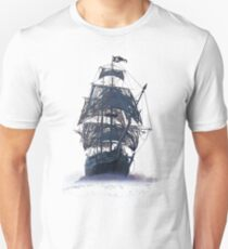 Ghost Pirate Ship at Night Unisex T-Shirt