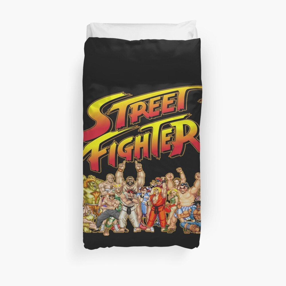 Street Fighter  retro game Duvet Cover