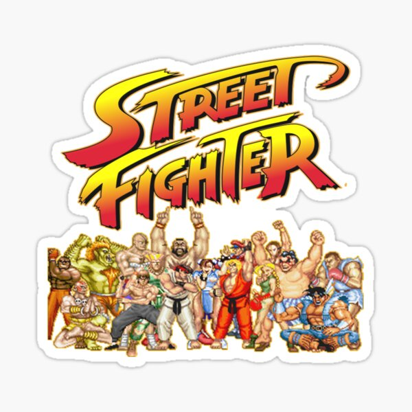 Juego retro de Street Fighter Pegatina