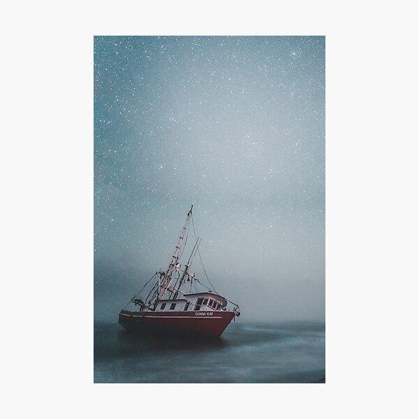 Shipwrecked -- Fishing Boat Washed Ashore Photographic Print