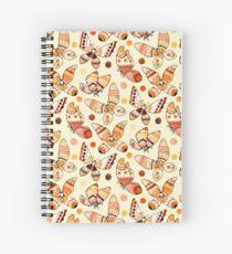 Earth Toned Watercolor Butterflies  Spiral Notebook