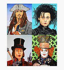 Johnny Depp collage Fotodruck