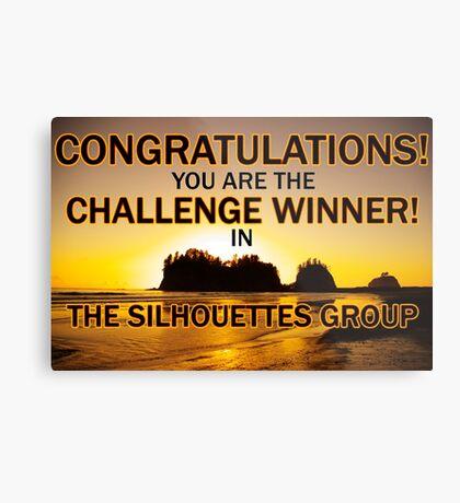 sihouettes winner banner Metal Print