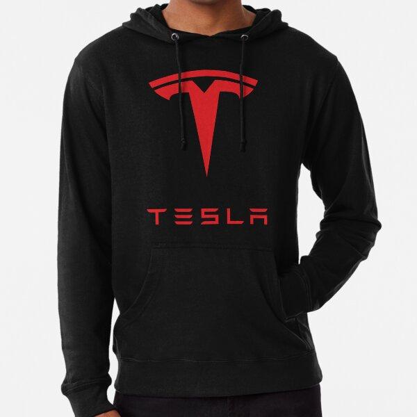 Tesla Logo (Red) Lightweight Hoodie