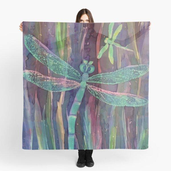 Dragonflies blue  Scarf