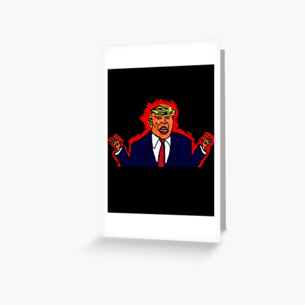 Trump from Hell Greeting Card