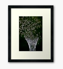 Snowing green delusions by Brown Sugar. Featured  Art of Glass . Views 504 . Let me Seduce You ! Framed Print