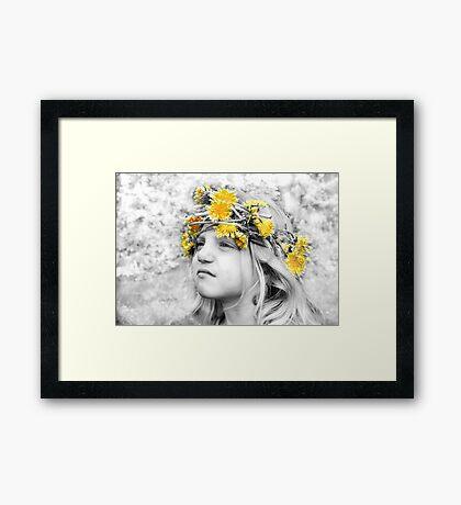 Talitha's Dandelion Crown Framed Print