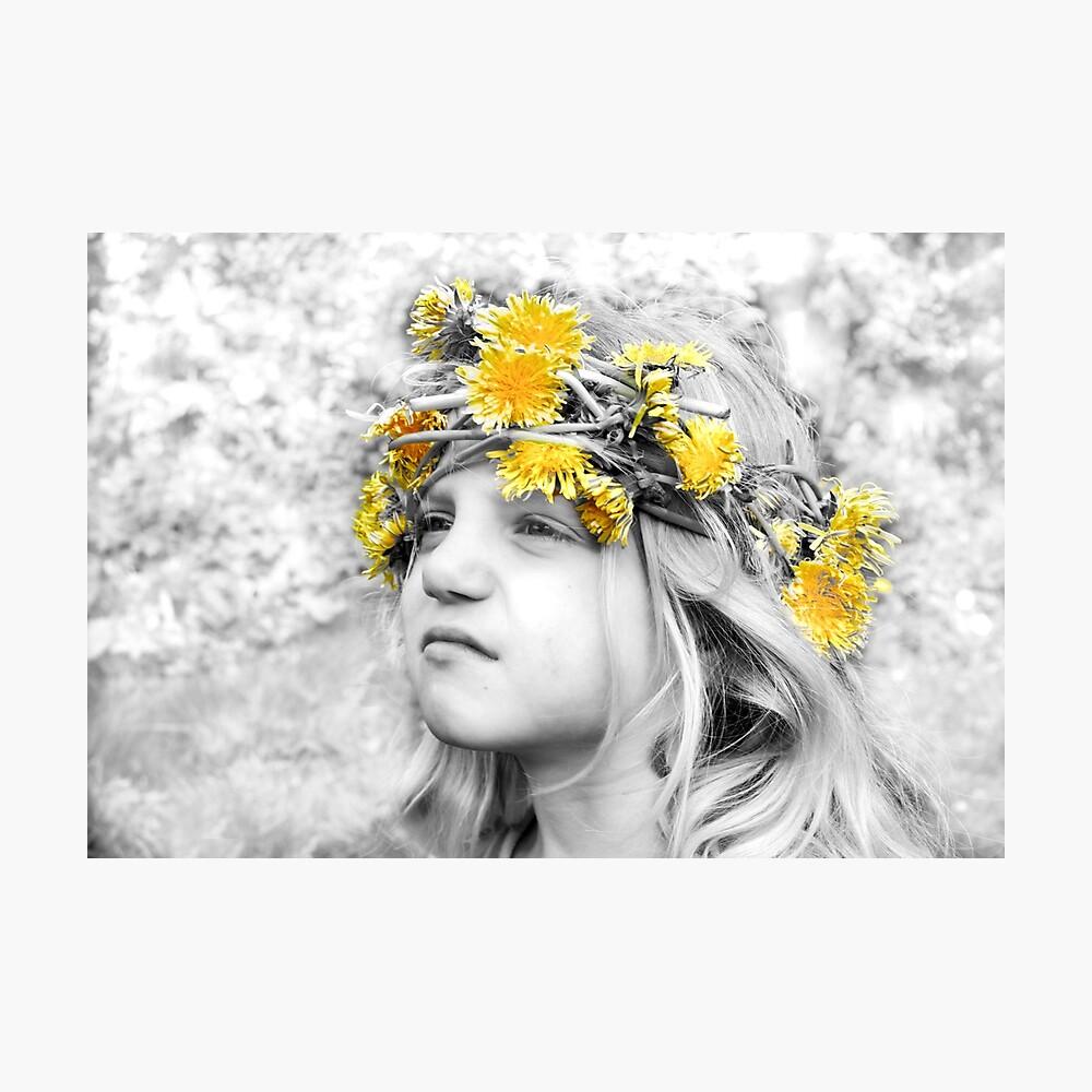 Talitha's Dandelion Crown Fotodruck