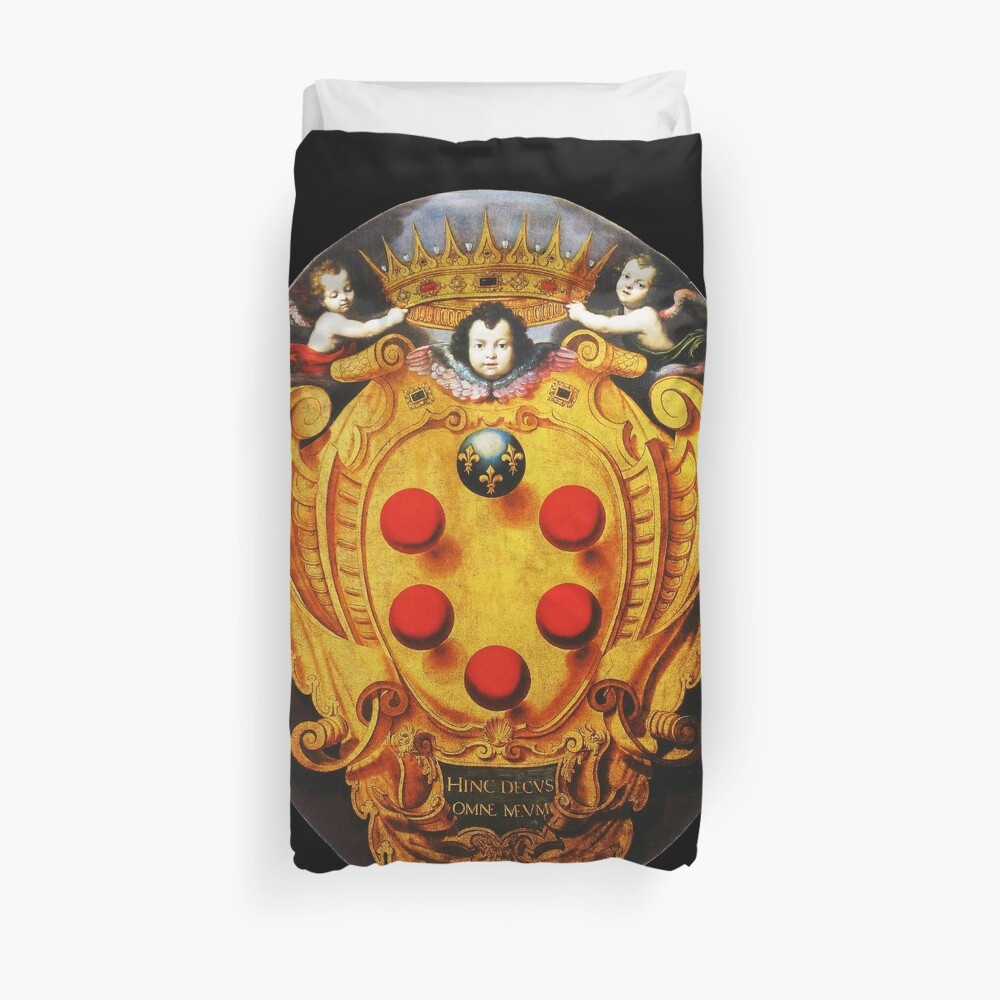 The Medici coat of arms on a silk velvet Duvet Cover