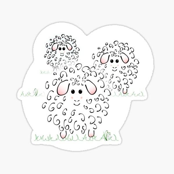 Little sheep Sticker