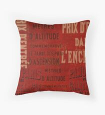 Old Paris poster Throw Pillow