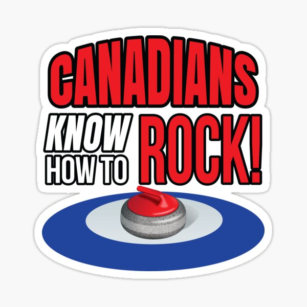 'Canadians Know How To Rock!' (White) Sticker