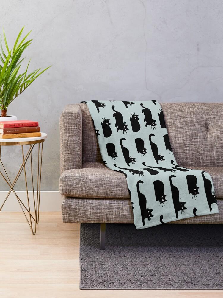 Alternate view of Black Cat Throw Blanket