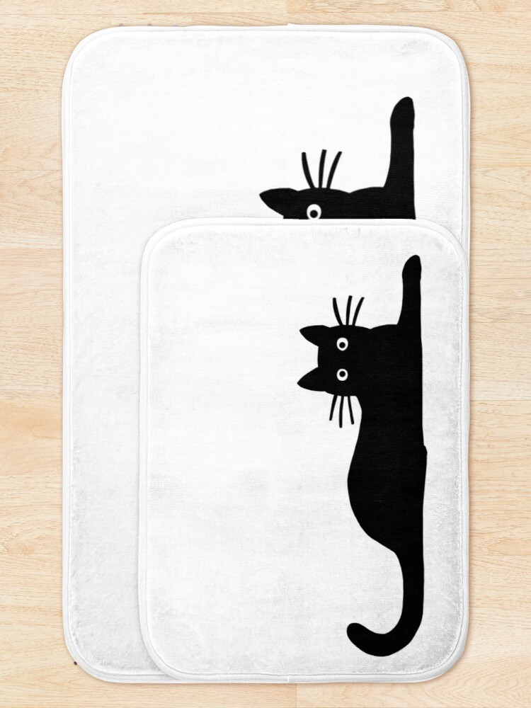 Alternate view of Black Cat Bath Mat