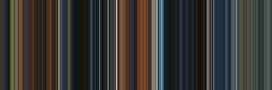 Moviebarcode: The Lord of the Rings: The Fellowship of the Ring (2001) [Simplified Colors] by moviebarcode