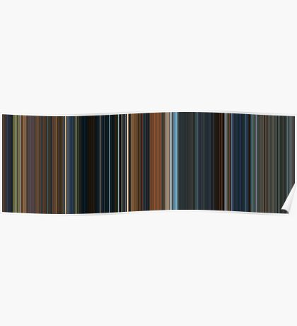 Moviebarcode: The Lord of the Rings: The Fellowship of the Ring (2001) [Simplified Colors] Poster