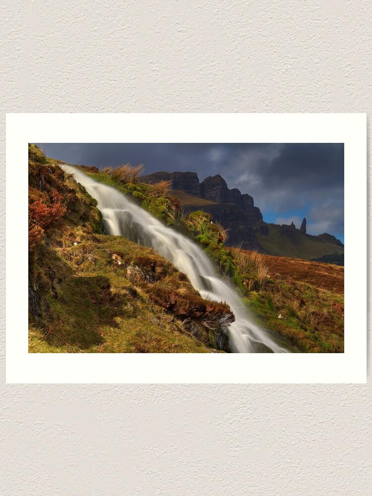 Alternate view of Storr Waterfall Art Print