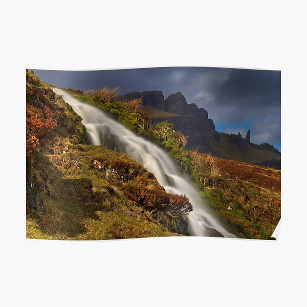 Storr Waterfall Poster