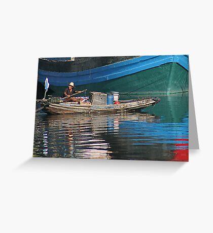 Chinese boat - China Greeting Card