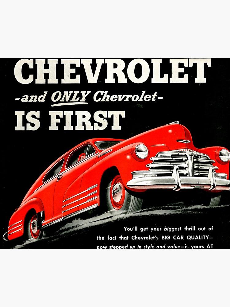 Chevrolet car ad 1948 by liesjes