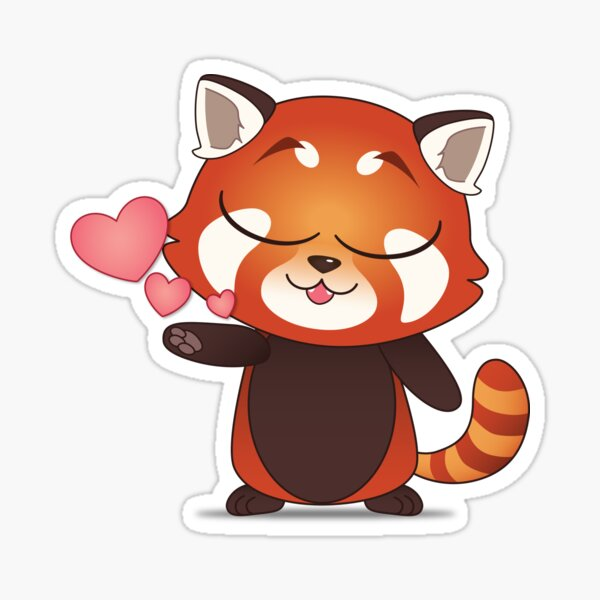 Loving Red Panda Sticker