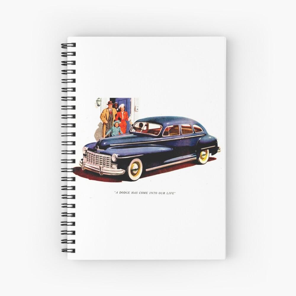 Dodge ad 1948 Spiral Notebook