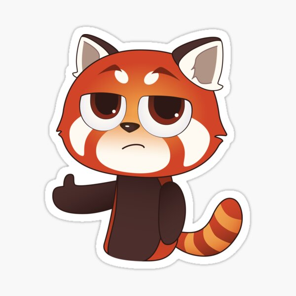 Thumbs Up Red Panda Sticker