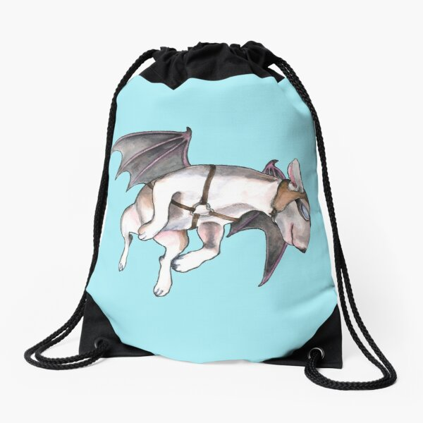 Bull Terrier If Pigs Could Fly  Drawstring Bag