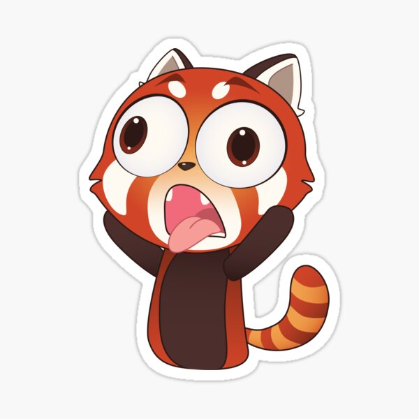 Crazy Red Panda Sticker