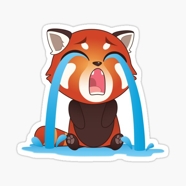 Crying Red Panda Sticker