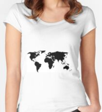 A Simple Globe Women's Fitted Scoop T-Shirt