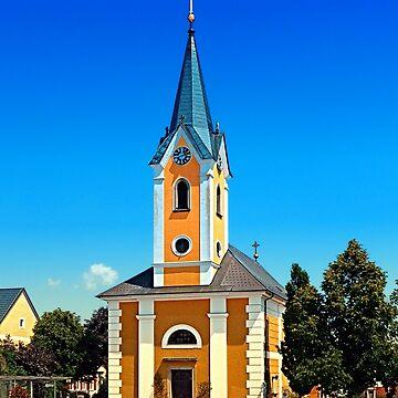 The village church of Alberndorf in der Riedmark by patrickjobst