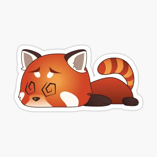 Ded Red Panda Sticker
