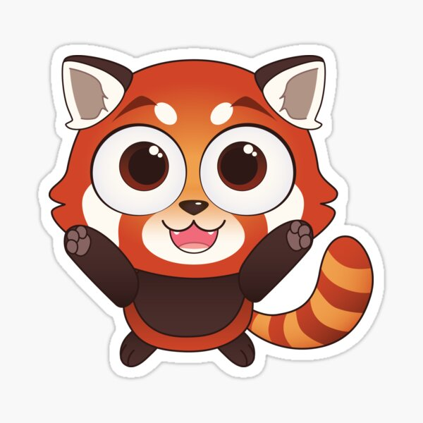 Excited Red Panda Sticker