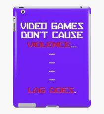 Lag Kills video games iPad Case/Skin