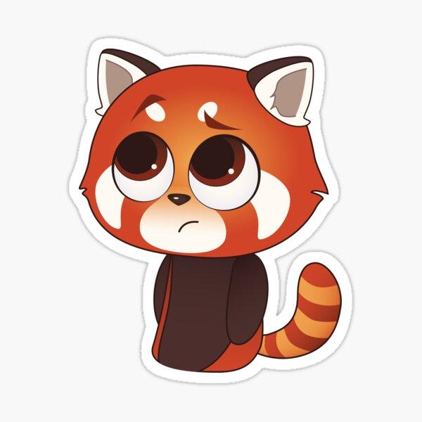Bummer Red Panda Sticker