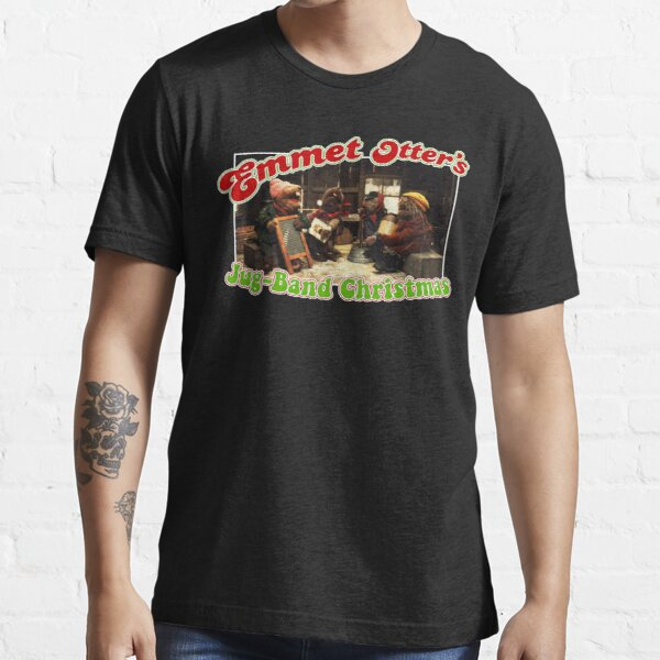Emmet Otter/'s Jug-Band Christmas T Shirt Funny Black Vintage Gift For Men Women