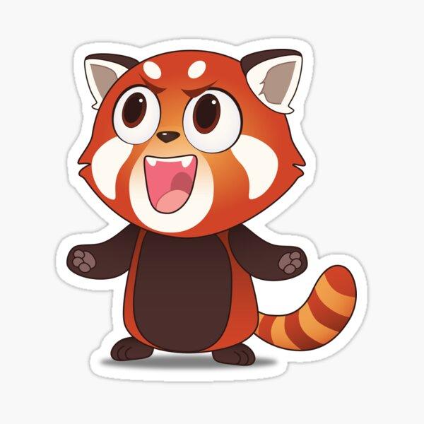 Maniacal Red Panda Sticker
