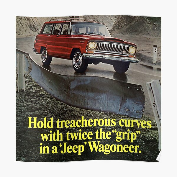 Jeep Wagoneer ad 1967 Poster