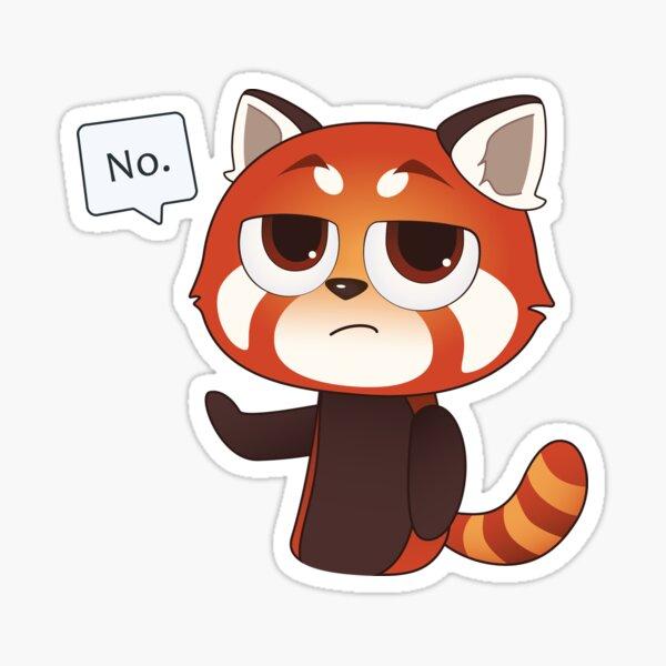 No Red Panda Sticker