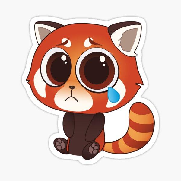 Sad Red Panda Sticker