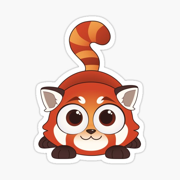 Playful Red Panda Sticker