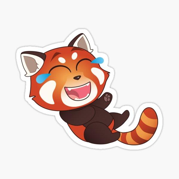 Laughing Red Panda Sticker