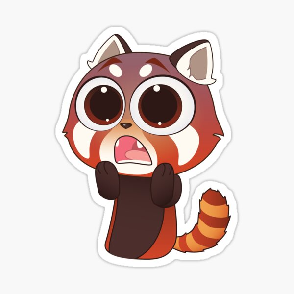 Scared Red Panda Sticker