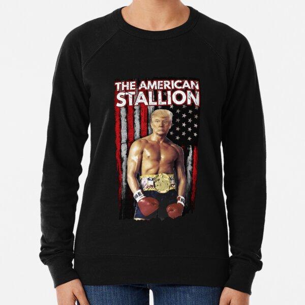 Boxer Trump - Rocky Trump Meme Leichter Pullover