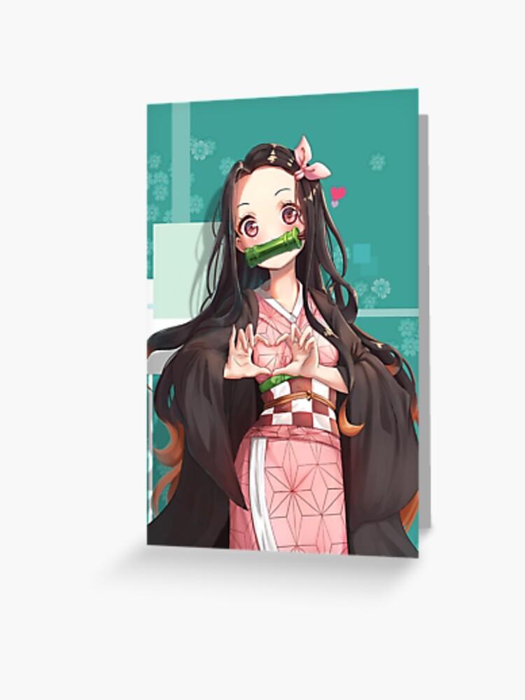 Demon Slayer Kimetsu no Yaiba Shinobu Kochou /& Nezuko card sleeves set