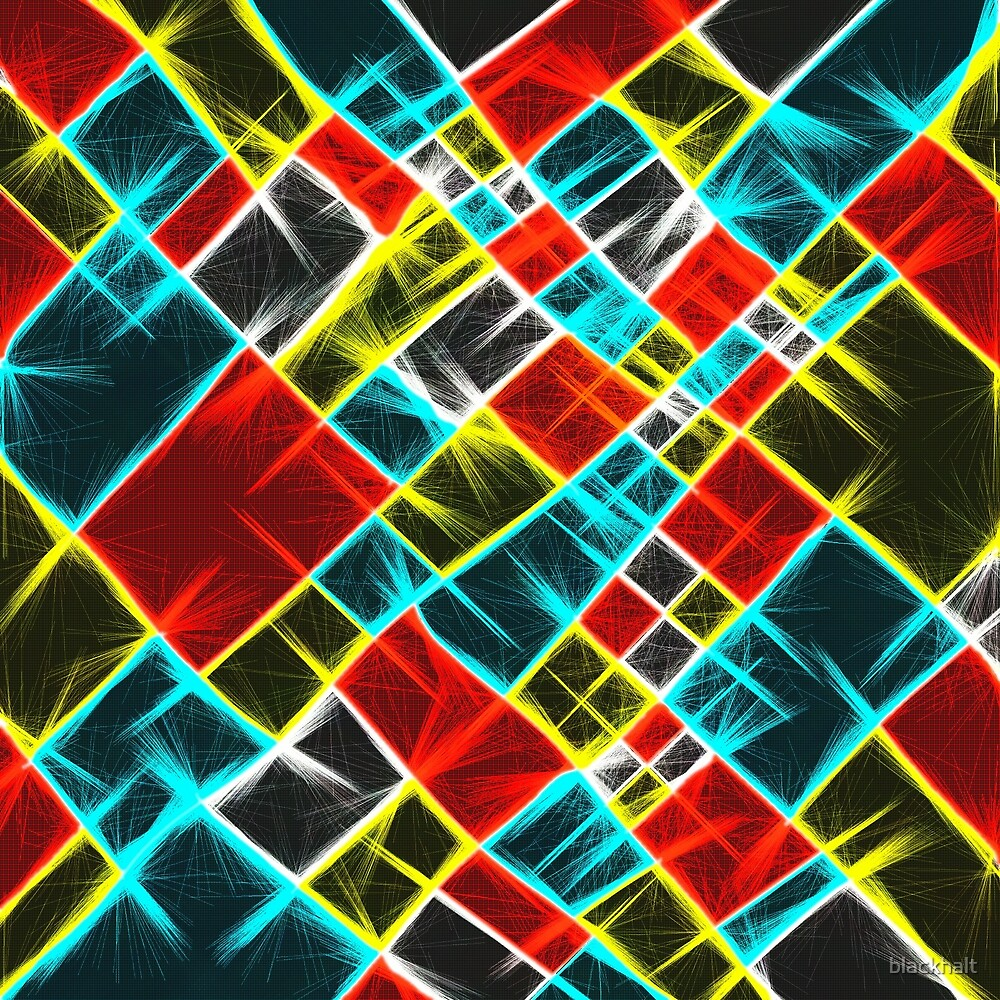 Abstract colors | laser shapes by blackhalt